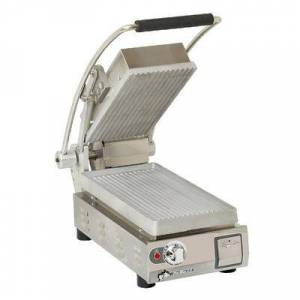Star PGT7 Single Commercial Panini Press w/ Aluminum Grooved Plates, 120v