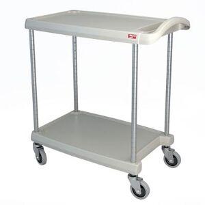 Metro MY1627-24G 2 Level Polymer Utility Cart w/ 300 lb Capacity, Marine Ledges