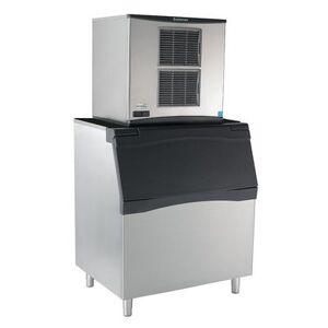 Scotsman C0630SW-32/B842S/KBT29 633 lb Half Cube Ice Maker w/ Bin - 778 lb Storage, Water Cooled, 208-230v/1ph