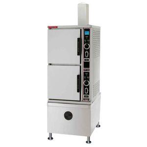 Rio Market Forge ETP-10G (10) Pan Convection Steamer - Cabinet, Descaling Port, Liquid Propane
