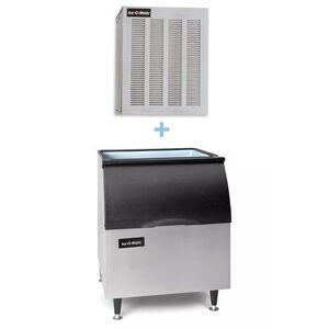 Ice-O-Matic GEM0650A/B40PS 740 lb Nugget Ice Maker w/ Bin - 344 lb Storage, Air Cooled, 115v