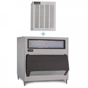 Ice-O-Matic GEM0650A/B1300-48 740 lb Nugget Ice Maker w/ Bin - 1320 lb Storage, Air Cooled, 115v