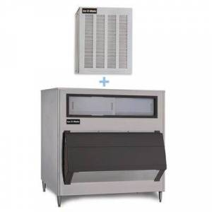 Ice-O-Matic MFI1256A/B1600-60 1149 lb Flake Ice Maker w/ Bin - 1660 lb Storage, Air Cooled, 208-230v/1ph