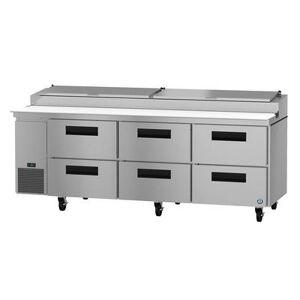 "Hoshizaki ""Hoshizaki PR93A-D6 SteelHeart 93"""" Pizza Prep Table w/ Refrigerated Base, 115v"""