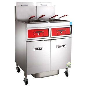 Vulcan 4VK85DF Gas Fryer - (4) 90 lb Vats, Floor Model, Liquid Propane