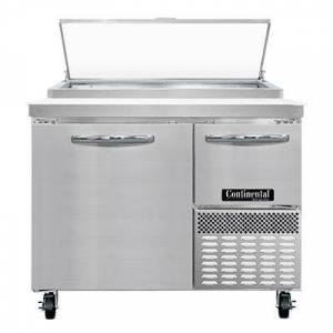 """Continental """"Continental PA43N 43"""""""" Pizza Prep Table w/ Refrigerated Base, 115v"""""""