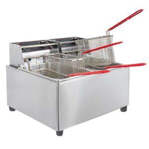 Cecilware Pro EL2X15 Countertop Electric Fryer - (2) 15 lb Vats, 120v