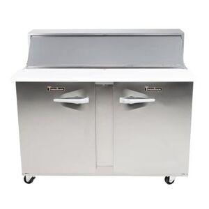 "Traulsen ""Traulsen UPT4812-LR 48"""" Sandwich/Salad Prep Table w/ Refrigerated Base, 115v"""