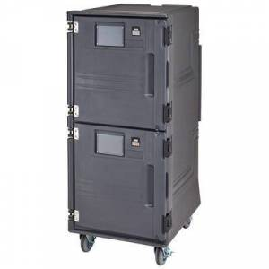 Cambro PCUPH615 Pro Cart Ultra? Ambient/Hot Insulated Food Carrier w/ (16) Pan Capacity, Gray, 110v