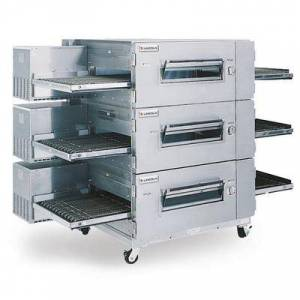 "Lincoln ""Lincoln 1600-FB3G 80"""" Impinger Low Profile Triple Conveyor Oven, Liquid Propane"""