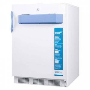 """Accucold """"Accucold VT65MLBI7MED2ADA 24"""""""" One-Section Undercounter Pharmaceutical Freezer - White, 115v"""""""