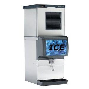 Scotsman C0322MW-1/ID150B-1/KBT42 366 lb Full Cube Ice Maker w/ Countertop Ice Dispenser - 150 lb Storage, Cup Fill, 115v