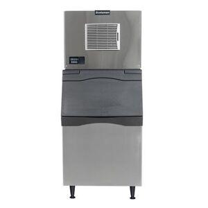 Scotsman C0330SA-1/B530S 400 lb Half Cube Ice Maker w/ Bin - 536 lb Storage, Air Cooled, 115v
