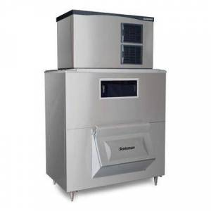 Scotsman C1448SA-32/BH1600BB-A 1553 lb Half Cube Ice Maker w/ Bin - 1755 lb Storage, Air Cooled, 208-230v/1ph