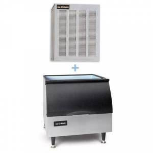 Ice-O-Matic GEM0650A/B25PP 740 lb Nugget Ice Maker w/ Bin - 242 lb Storage, Air Cooled, 115v