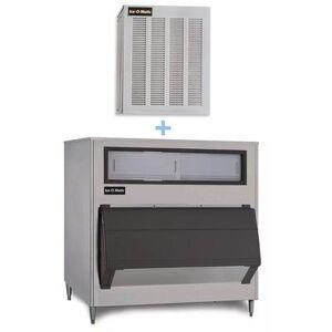 Ice-O-Matic GEM0650A/B1000-48 740 lb Nugget Ice Maker w/ Bin - 1000 lb Storage, Air Cooled, 115v