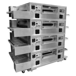 "Marshall ""Middleby Marshall PS555G-4 55"""" Gas Quadruple Impingement Conveyor Oven - Liquid Propane"""