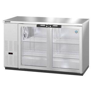 "Hoshizaki ""Hoshizaki BB59-G-S 59 1/2"""" Bar Refrigerator - 2 Swinging Glass Doors, Stainless, 115v"""