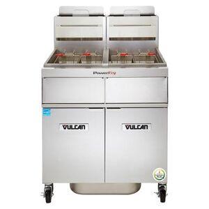 Vulcan 3TR85CF Gas Fryer - (3) 90 lb Vats, Floor Model, Liquid Propane