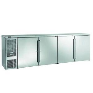 """Perlick """"Perlick BBS108 108"""""""" Bar Refrigerator - 4 Swinging Solid Doors, Black, 120v"""""""