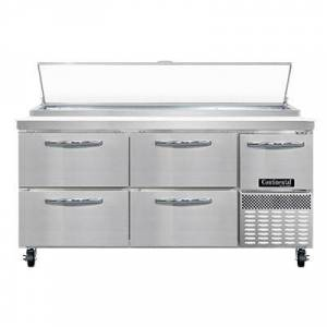 """Continental """"Continental PA68N-D 68"""""""" Pizza Prep Table w/ Refrigerated Base, 115v"""""""