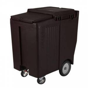 Cambro ICS200TB110 200 lb Insulated Mobile Ice Caddy - Plastic, Black
