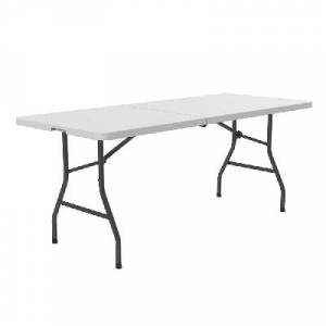 "Correll ""Correll CP3072FM 72"""" Rectangular Folding Table w/ Gray Granite Plastic Top, 29""""H"""