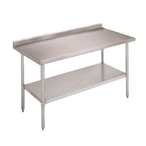 """John Boos """"John Boos FBLGR5-3030 30"""""""" 18 ga Work Table w/ Undershelf & 430 Series Stainless Top, 5"""""""" Backsplash"""""""