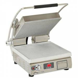 Star PGT14T Single Commercial Panini Press w/ Aluminum Grooved Plates, 120v