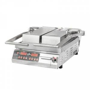 Star PST14D Double Commercial Panini Press w/ Aluminum Smooth Plates, 120v