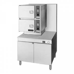 Cleveland 36CGM300 (6) Pan Convection Steamer - Cabinet, Includes Worktop, Liquid Propane