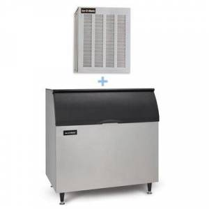 Ice-O-Matic MFI0500A/B110PS 540 lb Flake Ice Maker w/ Bin - 854 lb Storage, Air Cooled, 115v