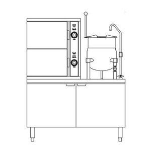 Crown Steam SCX-10-10 (10) Pan / (1) Kettle Convection Steamer - Cabinet, Steam Coil