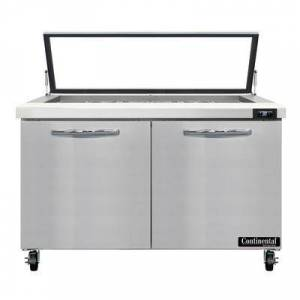 "Continental ""Continental SW48N18M-HGL 48"""" Sandwich/Salad Prep Table w/ Refrigerated Base, 115v"""