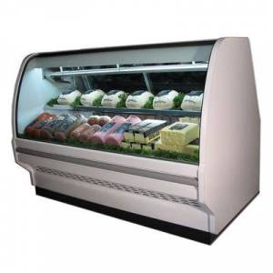 "Howard McCray ""Howard McCray SC-CDS40E-6C-LED 75 1/2"""" Full Service Deli Case w/ Curved Glass - (2) Levels, 115v"""
