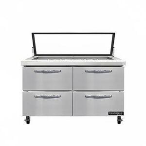 "Continental ""Continental SW48N18M-HGL-FB-D 48"""" Sandwich/Salad Prep Table w/ Refrigerated Base, 115v"""