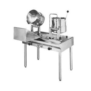 Groen MS83998 (1) 5 gal & (2) 10 gal Steam Kettles - Manual Tilt, 2/3 Jacket, Direct Steam