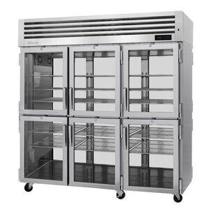 Turbo Air PRO-77-6H-G-PT Full Height Pass Thru Mobile Heated Cabinet w/ (9) Shelves, 208v/1ph