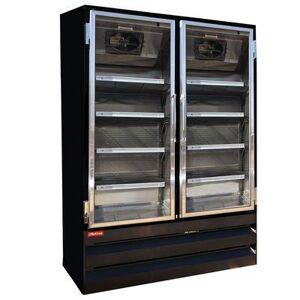 "Howard McCray ""Howard McCray GF65BM-B-FF-LED 78"""" Three Section Display Freezer w/ Swing Doors - Bottom Mount Compressor, Black, 115v"""