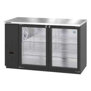 """Hoshizaki """"Hoshizaki HBB-2G-LD-59 59 1/2"""""""" Bar Refrigerator - 2 Swinging Glass Doors, Black, 115v"""""""