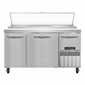 """Continental """"Continental PA60N 60"""""""" Pizza Prep Table w/ Refrigerated Base, 115v"""""""