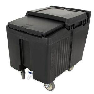 Cambro ICS125L110 125 lb Insulated Mobile Ice Caddy - Plastic, Black
