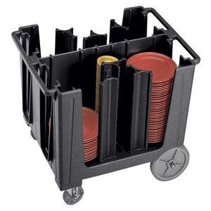 """Cambro """"Cambro ADCS110 37 7/8"""""""" Mobile Dish Caddy w/ (6) Columns - Plastic, Black"""""""