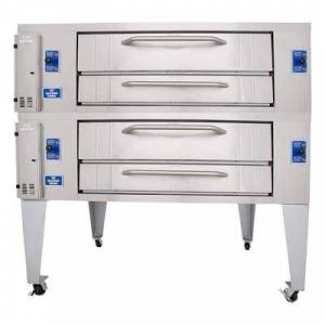 Bakers Pride Y-802BL Double Pizza Deck Oven, Natural Gas