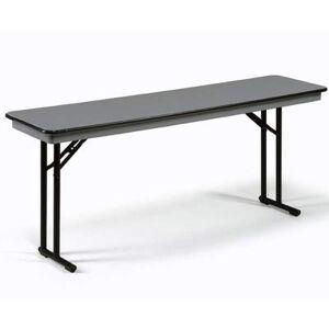 """Midwest Folding Products """"Midwest Folding Products CP818EF 96"""""""" EF Series Rectangular Folding Table w/ Gray Laminate Top, 30""""""""H"""""""