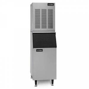 Ice-O-Matic GEM0650A/B55PS/KBT19 740 lb. Nugget Ice Maker with Bin - 510 lb. Storage, Air Cooled, 115v