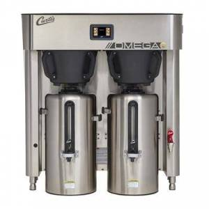 Curtis OMGT10 3 gal Twin Coffee Urn Brewer w/ Dispenser, 240v/3ph
