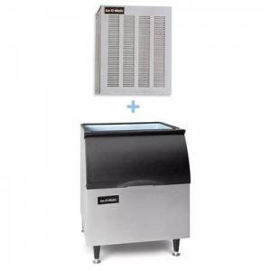 Ice-O-Matic GEM0956A/B40PS 1053 lb Nugget Ice Maker w/ Bin - 344 lb Storage, Air Cooled, 208-230v/1ph