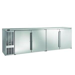 "Perlick ""Perlick BBS108S-S-4 108"""" Bar Refrigerator - 4 Swinging Solid Doors, Stainless, 120v"""