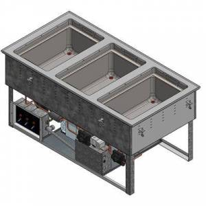 Vollrath FC-6HC-03120-AD Drop-In Hot/Cold Food Well w/ (3) Full Size Pan Capacity, 120v